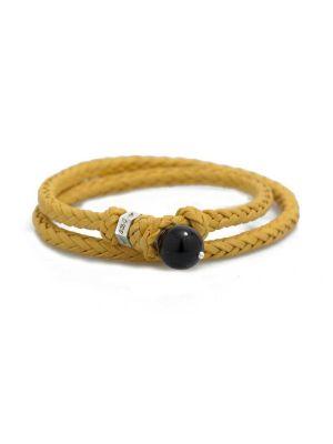 Scoubidou Bracelets Yellow