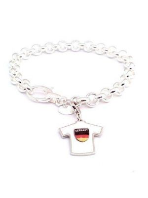Bracelet rolò with charm Germany soccer team mesh