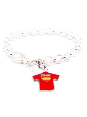 Bracelet rolò with charm Spain soccer team mesh