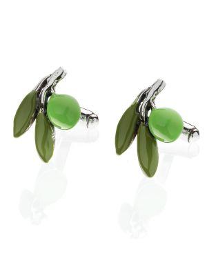 Green Olive Cufflinks