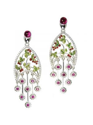 Ornamental Flowers Earrings
