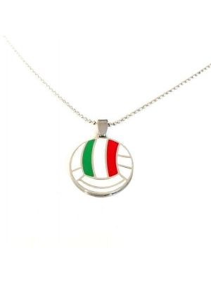 Necklace with volleyball ball pendant