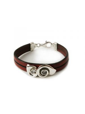 Io Scintillante silver red leather